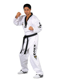 Starfighter TKD Uniform with black lapel, WTF approved, size 150 cm - 200 cm