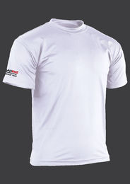 short sleeved, white