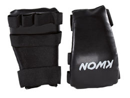 KWON Black Line gloves, leatherette, black, size Senior