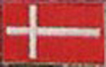 Badge Denmark small flag, size 5 cm x 3 cm