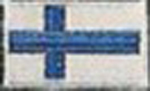 Badge Finland small flag, size 5 cm x 3 cm