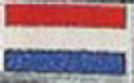 Badge Holland small flag, size 5 cm x 3 cm