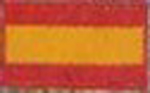 Badge Espanja small flag, size 5 cm x 3 cm