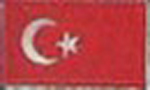 Badge Turkey small flag, size 5 cm x 3 cm