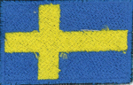 Badge Sweden small flag, size 5 cm x 3 cm