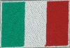 Badge Italia small flag, size 5 cm x 3 cm
