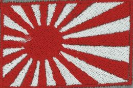 Badge Japan War small flag, size 5 cm x 3 cm