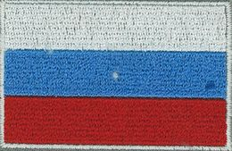 Badge Russia small flag, size 5 cm x 3 cm