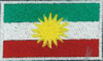 Badge Kurdistan small flag, size 5 cm x 3 cm