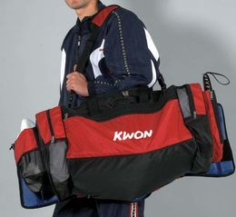KWON TKD Evolution bag, red/black, size: 70 x 35 x 35cm