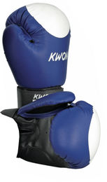 KWON Club Line Pointer Boxing gloves, blue + white target point, 10 oz
