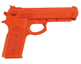 "KWON Rubber pistol ""Beretta"", orange, size 23 cm"