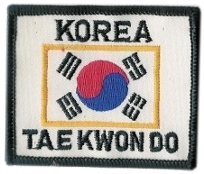 Badge Korea Tae Kwon Do, size 6 x 8 cm