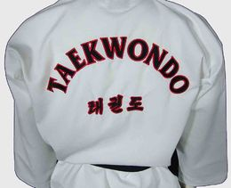 Jcalicu Taekwon-Do uniform, WTF approved, black collar, sizes: 150 cm - 210 cm