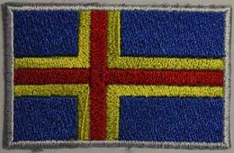 Badge Åland small flag, size 5 cm x 3 cm