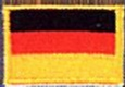 Badge German small flag, size 5 cm x 3 cm