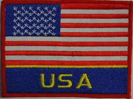 Badge USA, size 7,5 cm x 10 cm
