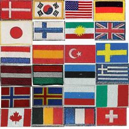 Badge,different countries flags