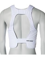 KWON Karate body protector, padded, white sizes S - XL