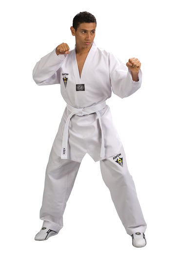 Starfighter TKD uniform with white lapel, sizes: 120 cm - 190 cm