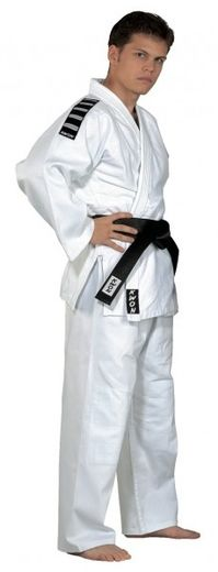 Judo-gi Training white with shoulder stripes + white belt