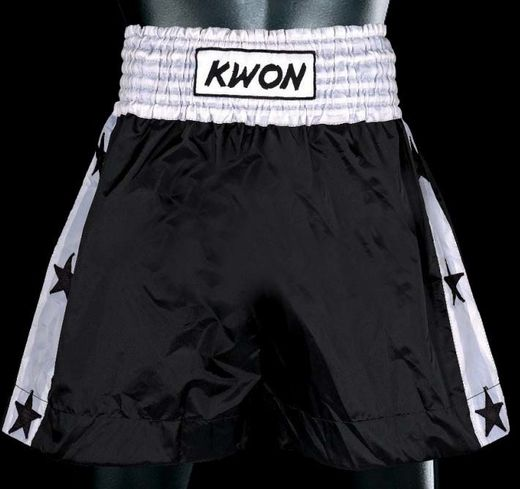 KWON Thai Boxing shorts, black/white, sizes: S-L