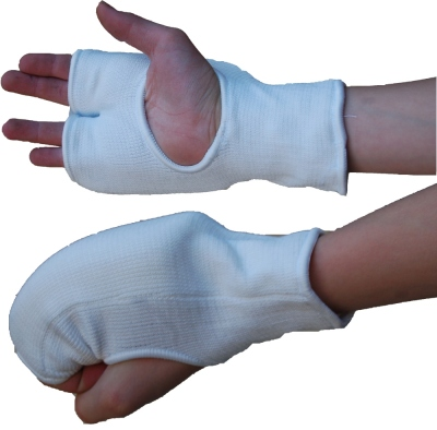 NUKE Hand protector, flexible, cotton, white, sizes: S-L