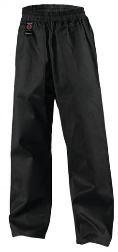 KWON Kick pants, elastic waistband, 8 oz, black, sizes: 110 cm - 210 cm