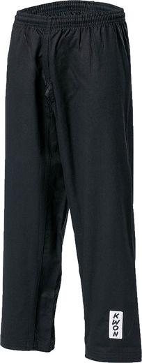 Sangdan kick pants, elastic waistband, 10 oz, black, sizes: 150 cm - 210 cm