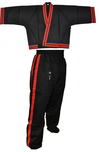 Kali - Escrima Stickfighting uniform, black/red, sizes: 140 cm - 210 cm