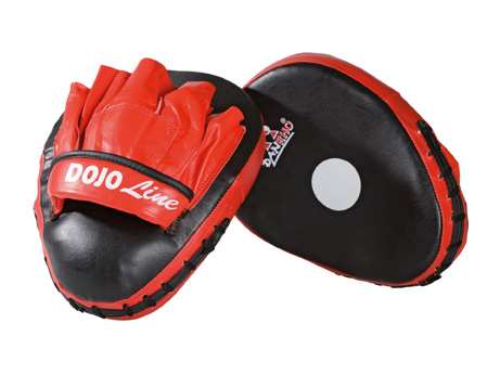 Dan Rho Dojo-Line Curved Focus mitt, red/black, size: 30 x 20 x 5cm