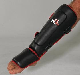 DAN RHO Thai-Boxing Shin/Instep Guard , black, sizes: S - XL