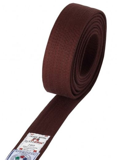 DAN RHO IJF Judo Belts, brown, sizes: 240 cm - 350 cm