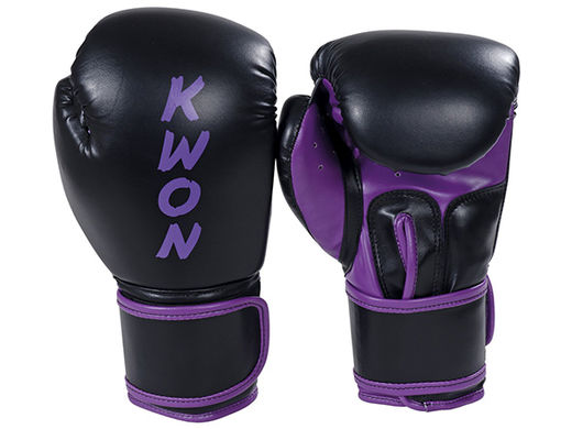 KWON Boxing gloves Ergo Fight 8 oz ja 10 oz black-purple