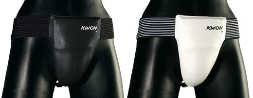 KWON Traditional Groin guard for men CE with plastic cup, sizes: S-L