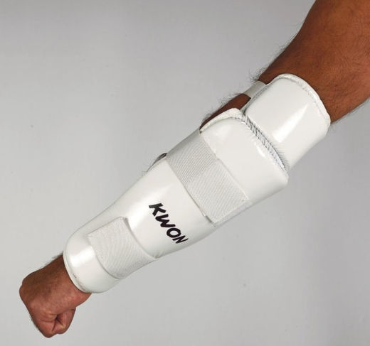 KWON Forearm- and Elbow guard CE, white, sizes: XS-XL