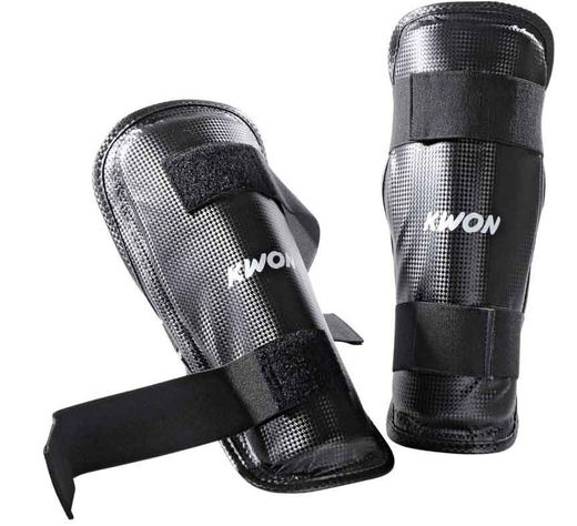 KWON SHIN GUARD BLACK, Sizes XS-XL