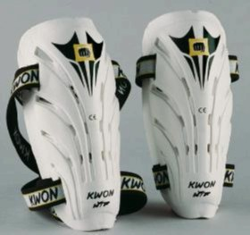 "KWON ""Shocklite"" Shin guard, WTF-approved, white, sizes: XS-XL"