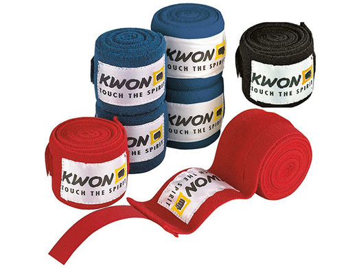 KWON Box bandages non-elastic 4,5m, blue, black, red
