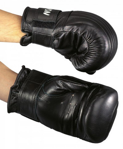 KWON Punch bag gloves, real leather, black, sizes: S-L