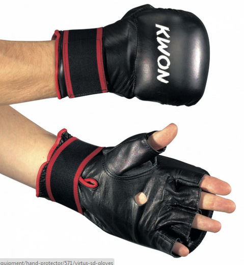 KWON Virtus SD Gloves, real leather, black, sizes: S-XL