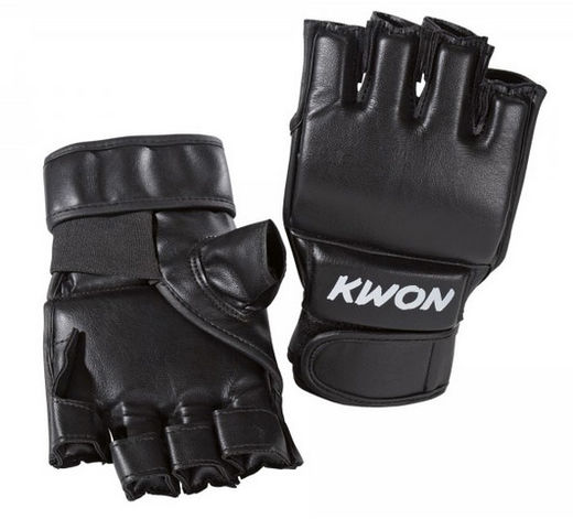 KWON Ultimate Economic Grappling gloves, leatherette, black, sizes: S-XL
