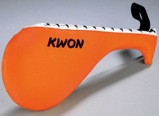 KWON Single Floppy kick pad, ultra strong, nylon, orange