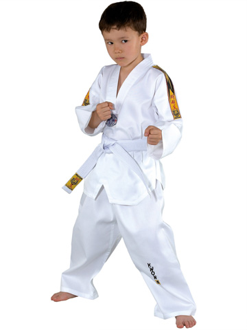 KWON Clubline Tiger Taekwondo uniform, sizes: 100 cm - 170 cm
