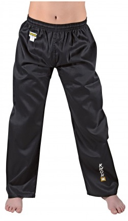 KWON Club Line budopants, 8 oz, black, sizes: 100 cm - 200 cm