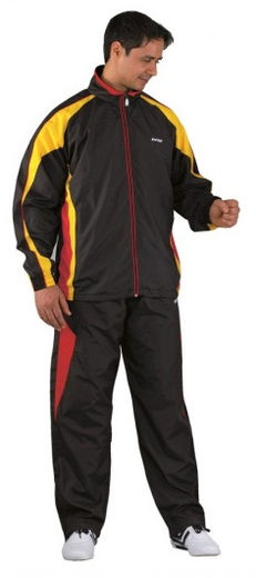 KWON Tracksuit Fire, black/yellow/red