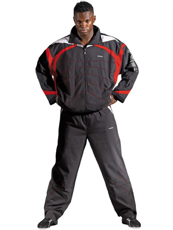 Statement training suit, black/white/red