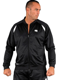 Mens Training Jacket, black, polyester, sizes: S-XXL