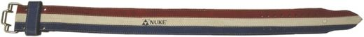 NUKE TRICOLOR Powerlifting belt, real leather, red/blue/white, sizes: S-XL