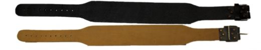 SABE Support belt, real leather, with buckle lock, black, sizes: S-XL